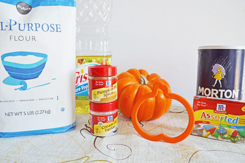 Staying inside can be all kinds of fun too, especially if you feel like getting your hands dirty, and trying out a fun fall project like this pumpkin spice play dough.