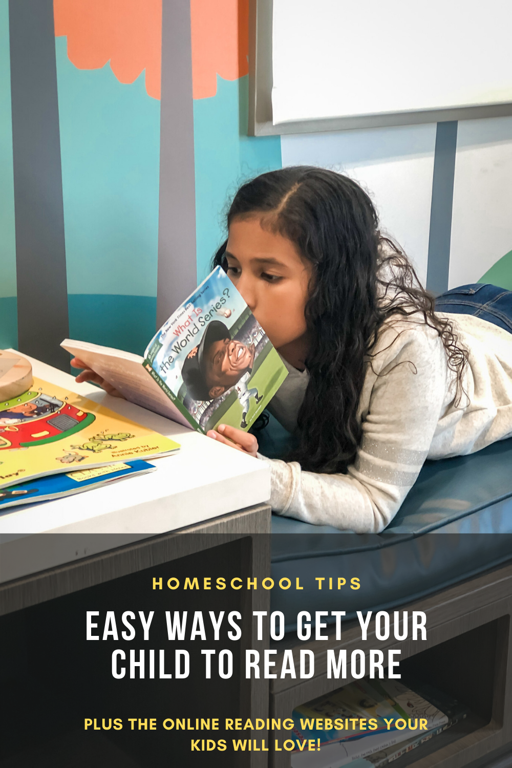 Best Reading Website For Kids Plus Tips To Encourage Kids to Read | Mixed Girl Reading Book